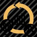 concept, agile, work, methodology, process icon