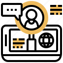 company, external, hiring, outsourcing, service icon