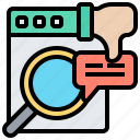 condition, failing, fast, problem, report icon