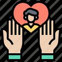 care, customer, high, service, value icon