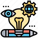 creativity, innovation, labs, products, service icon