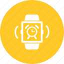 alarm, alert, clock, notification, ring, smart, watch icon