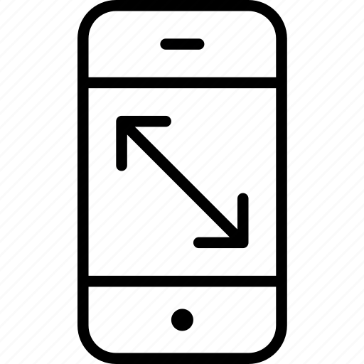 dimensions, mobile, phone, screen, size icon