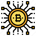 bitcoin, cryptocurrency, digital, money icon