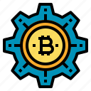 bitcoin, cryptocurrency, digital, money, technology icon