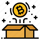 bitcoin, block, cryptocurrency, digital, reward icon