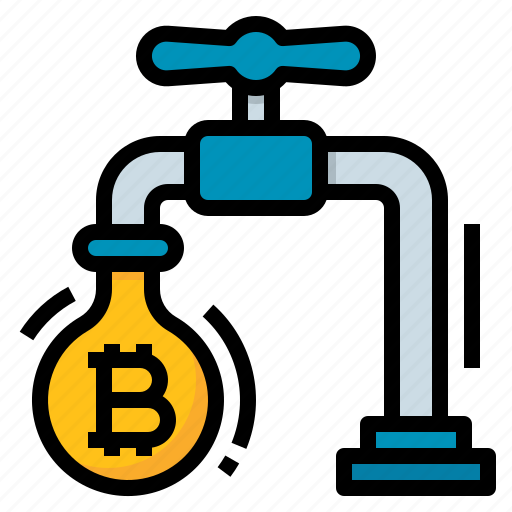 bitcoin, cryptocurrency, faucet, system icon