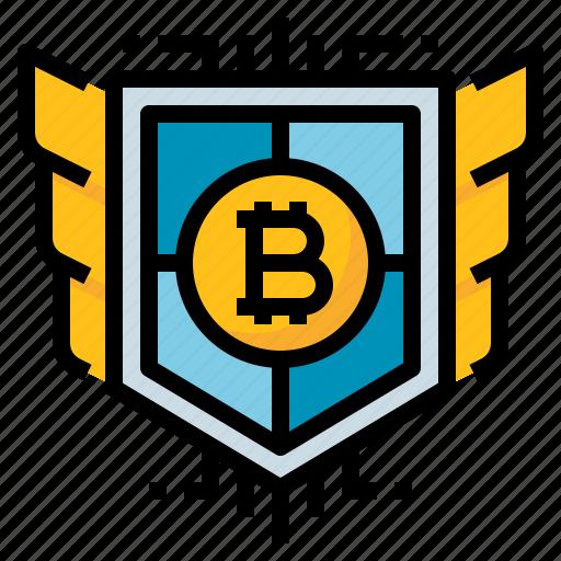 bitcoin, money, protection, safe, security icon