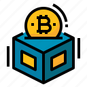 bitcoin, blockchain, cryptocurrency, digital, money icon