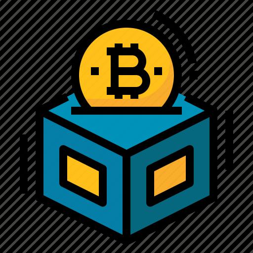 Bitcoin, blockchain, cryptocurrency, digital, money icon - Download on Iconfinder