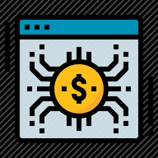 cryptocurrency, digital, money, online icon