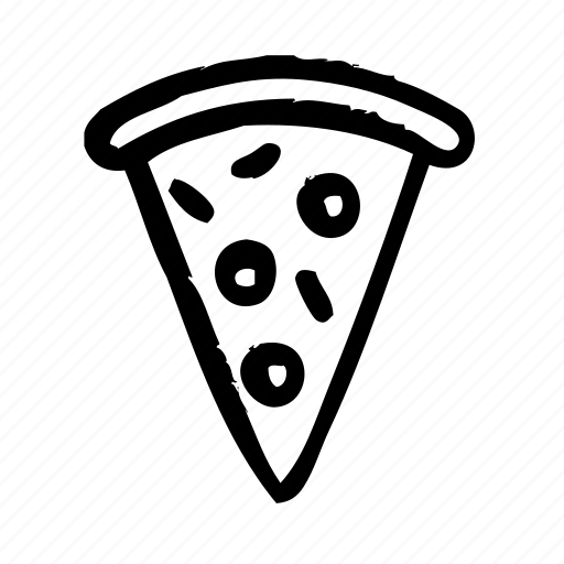 breakfast, fast, food, meal, pizza icon