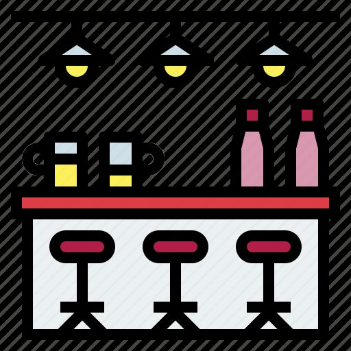 alcohol, bar, bottles, restaurant icon