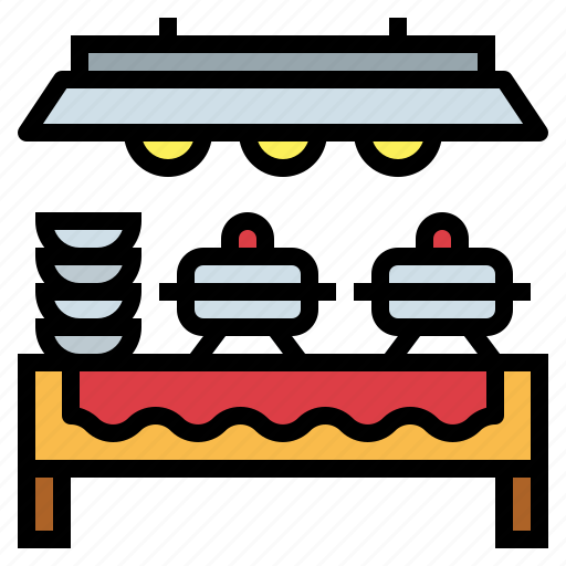buffet, event, foods, party icon
