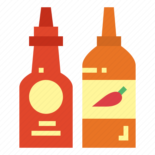 condiment, ketchup, sauce, spicy icon