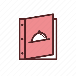 cover, dinner, menu icon