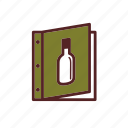 wine list, dinner, cover, wine menu icon