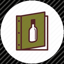 cover, dinner, wine list, wine menu icon