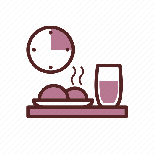 clock, dinner, drink, food, lunch, lunch menu, lunch time icon