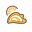 food, dinner, lemon, oyster, appetizer icon