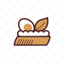 food, appetizer, dinner, spread, egg, starter, bread icon