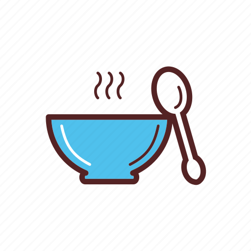 bowl, dinner, food, hot, soup, spoon icon
