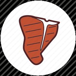 beef, dinner, food, grill, meat, steak, t-bone icon