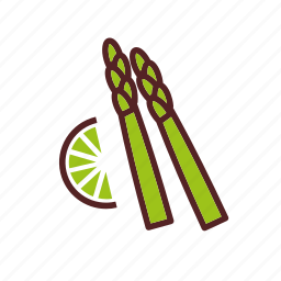 asparagus, dinner, food, lemon, sparrowgrass, vegetables icon