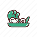 cucumber, dinner, food, salad, tomato, vegetables icon