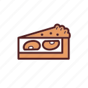 apple, cake, dessert, dinner, meal, pie, tart icon