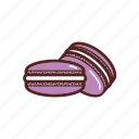 macaron, food, dessert, sweets, dinner, meal icon