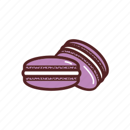dessert, dinner, food, macaron, meal, sweets icon
