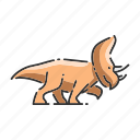 animal, dinosaur, rhino, triceratops icon