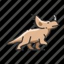 dinosaur, rhino, animal, sinoceratops icon