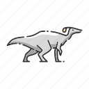 animal, dinosaur, parasaurolophus icon