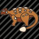 ankylosaurus, armored, dinosaur, herbivore, jurassic icon