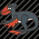deinonychus, dinosaur, gigantic, paleontology, theropod icon