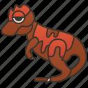beast, carnivore, creature, dinosaur, giganotosaurus icon