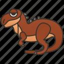 carnivore, creature, dinosaur, predator, rugops icon