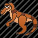 carnivore, creature, dinosaur, predator, velociraptor icon