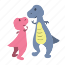 cute, dino, dinosaurs, five, high, high-five icon
