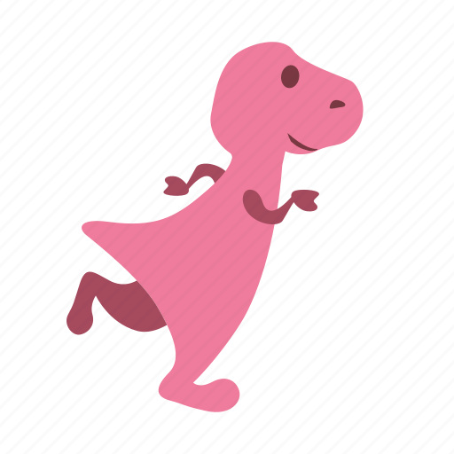 dino, dinosaur, girl, jogging, running icon