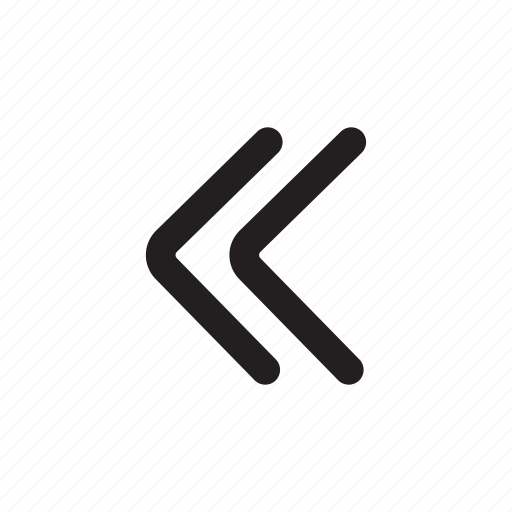 arrow, back, backward, double left, return, scroll icon