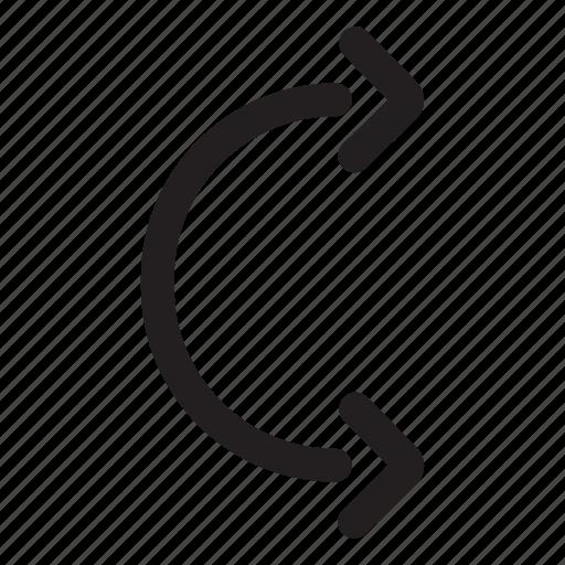 arc arrow curve direction flexible pointer icon. Black Bedroom Furniture Sets. Home Design Ideas