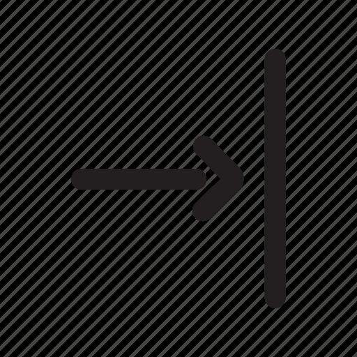 arrow, direction, door, enter, entrance icon