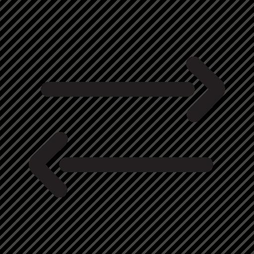 arrows, connection, converter, exchange, horizontal, transaction, transfer icon