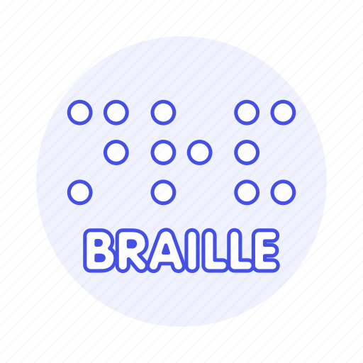 blindness, braille, disability, embossed, impairment, surface, system, visual, writing icon