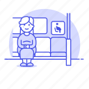 1, 2, bus, disability, inside, pregnancy, pregnant, priority, seat, sign, woman icon