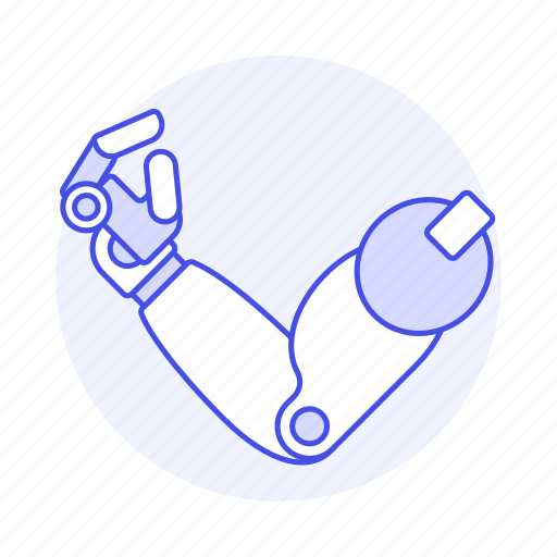 arm, artificial, disability, impairment, mechanical, metal, mobility, prosthesis, robot icon