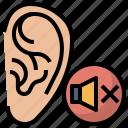 cancel, ear, hearing, hospital, medical, signaling